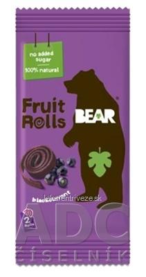BEAR Čiernoríbezľové rolky (Fruit rolls/yoyo Blackcurrant) ovocné rolky 1x20 g