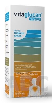 VITAGLUCAN Vital ELIXÍR extrakt z Hlivy + s obsahom Hlohu a zinku, 1x250 ml
