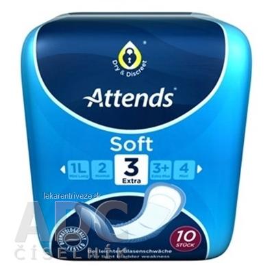 ATTENDS Soft Extra 3 ženské inkontinenčné vložky, savosť 599 ml, veľkosť 32,5 cm, 1x10 ks