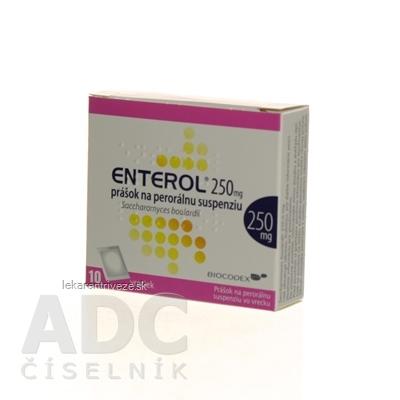 Enterol 250 mg prášok na perorálnu suspenziu plu por (vrecko papier/Al/PE) 1x10 vrecúšok