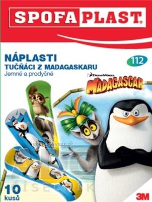 3M SPOFAPLAST č.112 Náplasť Madagaskar tučniaci, detská, 1x10 ks
