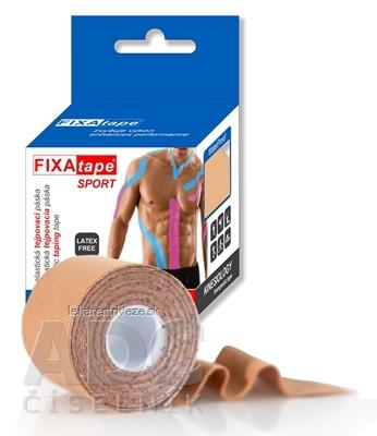 FIXAtape tejpovacia páska SPORT kinesiologická, elastická, telová, 5cm x 5m, 1x1 ks