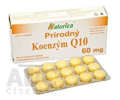 Naturica Prírodný KOENZÝM Q10 60 mg tbl (cmúľavé tablety) 1x30 ks