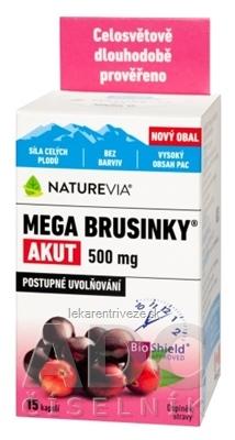 SWISS NATUREVIA MEGA BRUSNICE AKUT 500 mg cps 1x15 ks