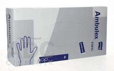Ambulex rukavice VINYLOVÉ veľ. S, nesterilné, nepúdrované 1x100 ks
