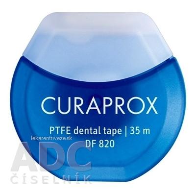 CURAPROX DF 820 PTFE teflónová dentálna páska, 35 m, Gleit, 1x1 ks