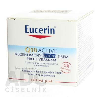 Eucerin Q10 ACTIVE nočný krém proti vráskam regeneračný na citlivú pokožku 1x50 ml