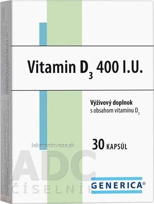 GENERICA Vitamin D3 400 I.U. cps 1x30 ks
