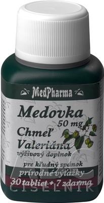 MedPharma MEDOVKA 50MG + CHMEĽ + VALERIÁNA tbl 30+7 zadarmo (37 ks)