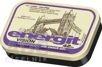 Energit VISION vitamínové tablety s príchuťou čučoriedka 1x42 ks