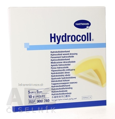 HYDROCOLL kompres hydrokoloidný (5cm x 5cm) 1x10 ks
