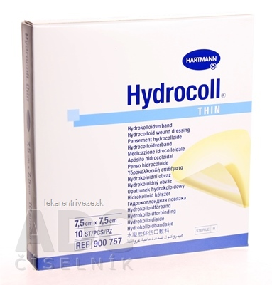 HYDROCOLL THIN kompres hydrokoloidný, tenký (7,5cm x 7,5cm) 1x10 ks