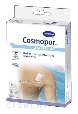 Cosmopor Waterproof sterilný vodeodolný (7,2 x 5 cm), 1x5 ks