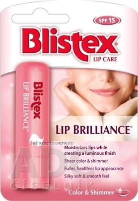 Blistex LIP BRILLIANCE balzam na pery, SPF 15, Farba & Lesk, 1x3,7 g