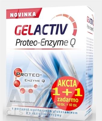 GELACTIV Proteo-Enzyme Q Akcia 1+1 tbl 60+60 zadarmo (120 ks)