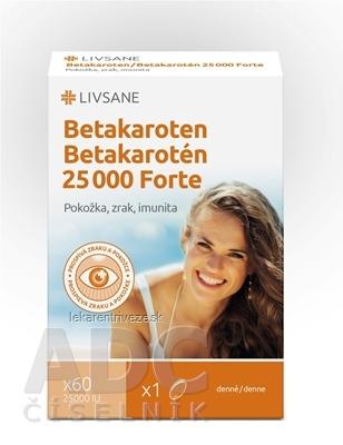 LIVSANE Betakarotén 25 000 Forte cps 1x60 ks