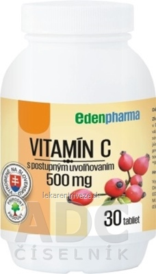EDENPharma VITAMÍN C 500 mg tbl s postupným uvoľňovaním 1x30 ks