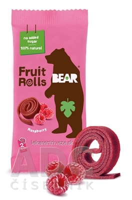 BEAR Malinové rolky (Fruit rools/yoyo Raspberry) ovocné rolky 1x20 g
