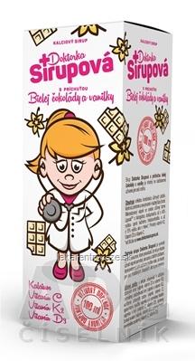 Doktorka Sirupová kalciový sirup s príchuťou Bielej čokolády a vanilky 1x100 ml