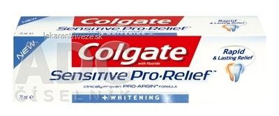 COLGATE SENSITIVE PRO RELIEF WHITENING zubná pasta 1x75 ml