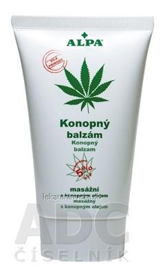 ALPA KONOPNÝ BALZAM masážny s konopným olejom 1x150 ml