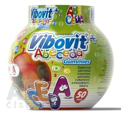 VIBOVIT+ ABECEDA Gummies (inov.2018) želé s ovocnou príchuťou 1x50 ks