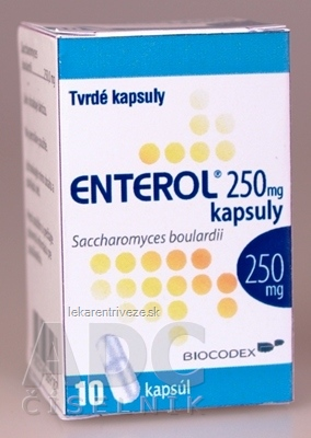 Enterol 250 mg kapsuly cps dur (fľ. skl.) 1x10 ks