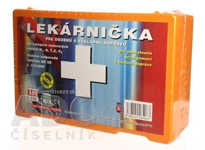 Panacea LEKÁRNIČKA v plastovom obale (pre kategóriu motorových vozidiel M1,N,T,C,Ps) 1x1 ks