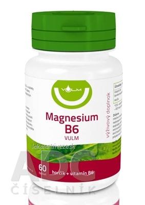 VULM Magnesium B6 tbl flm (horčík + vitamín B6) 1x60 ks