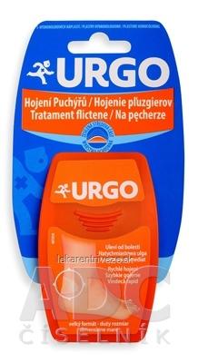 URGO Hojenie pľuzgierov Na päty (na šport) hydrokoloidná náplasť, 7,2x4,3 cm, 1x5 ks