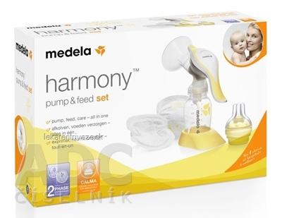 MEDELA Harmony premium 2 fázová manuálna odsávačka 1ks + vzorka vložiek do podprsenky, 1x1 set
