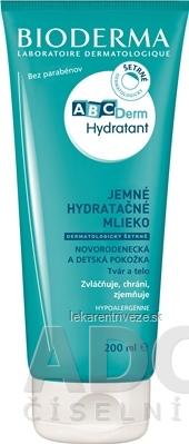 BIODERMA ABCDerm Hydratant telové mlieko, jemné hydratačné 1x200 ml