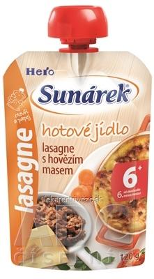 Sunárek hotové jedlo lasagne s hovädzím mäsom (od ukonč. 6. mesiaca), 1x120 g