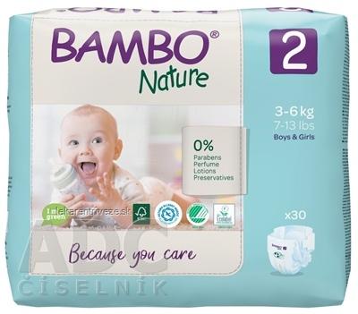 BAMBO 2 (3-6 kg) detské plienky priedušné, savosť 600 ml (inov.2020) 1x30 ks