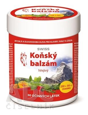 KONSKÝ BALZAM SWISS hrejivý (inov.16) 250+50 ml zadarmo (300 ml)