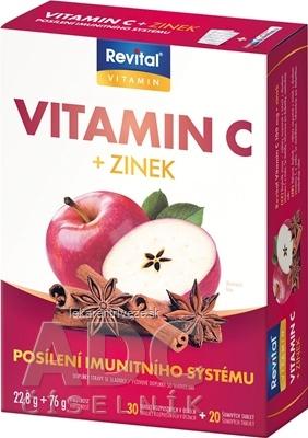 Revital Vitamín C + Zinok tbl 30 (vit.C 100mg+zinok) + tbl eff 20 (vit.C 500mg+zinok), s príchuťou winterdream, 1x1 set