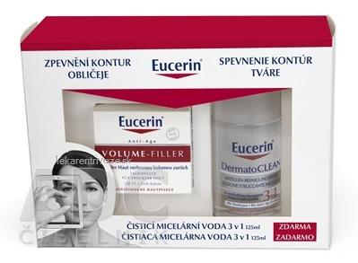 Eucerin VOLUME-FILLER Denný krém pre normálnu a zmiešanú pleť 50 ml + DermatoCLEAN Mic.voda 3v1 125ml, 1x1 set