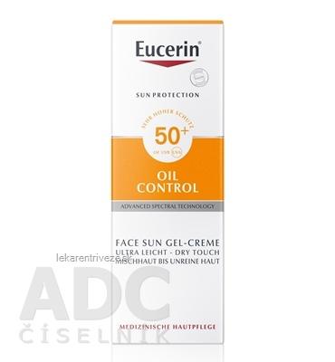 Eucerin SUN OIL CONTROL SPF 50+ ochranný krémový gél na opaľovanie na tvár 1x50 ml