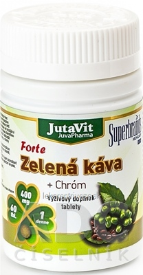 JutaVit Zelená káva Forte + Chróm tbl 1x60 ks