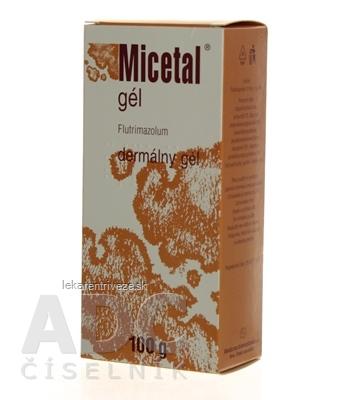 MICETAL gél gel der (fľ.HDPE) 1x100 g