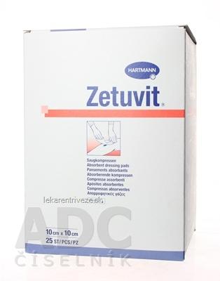 ZETUVIT kompres nasiakavý sterilný (10x10 cm) 1x25 ks