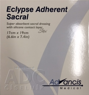 Eclypse Adherent Sacral krytie na rany superabsorpčné 17x19 cm, 1x10 ks