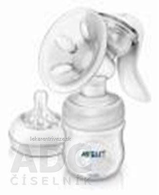 AVENT Manuálna odsávačka mlieka Natural s PP fľašou, 0% BPA, 1x1 set