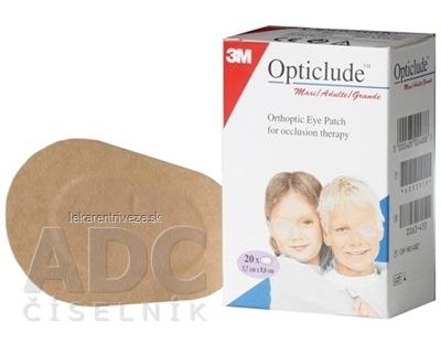 3M Opticlude Standard Maxi Očná náplasť [SelP] 5,7x8 cm, ortoptická, na liečbu strabizmu 1x20 ks