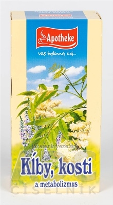 APOTHEKE ČAJ KĹBY, KOSTI A METABOLIZMUS bylinná zmes v nálevových vreckách 20x1,5 g (30 g)