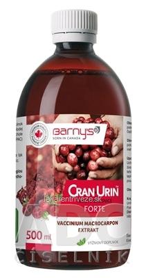 Barnys CRAN-URIN FORTE tekuté brusnice 1x500 ml