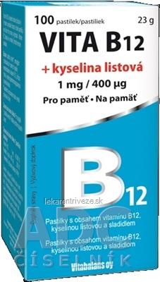 Vitabalans VITA B12 + kyselina listová (1 mg/ 400 mcg) pastilky 1x100 ks