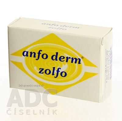 ANFO DERM zolfo tuhé medicinálne mydlo so sírou 1x100 g