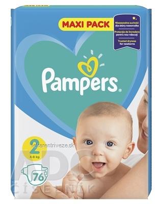 PAMPERS baby Maxi Pack 2 Mini detské plienky (4-8 kg)(inov.2018) 1x76 ks