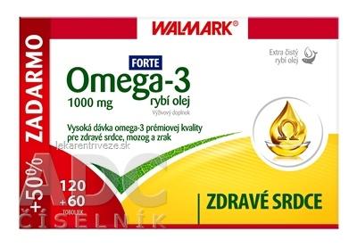 WALMARK Omega 3 rybí olej FORTE cps 120+60 ks zadarmo (180 ks)